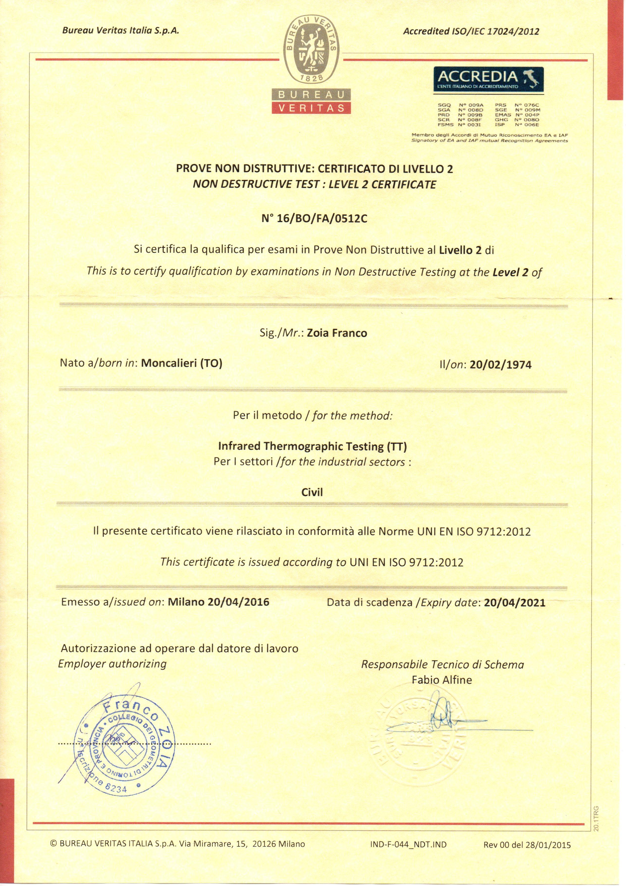 certificato-termografia-livello-2